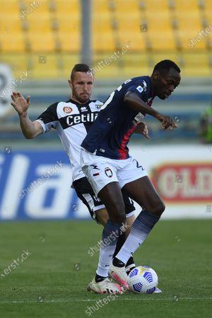 "Simy Simeon Tochukwu Nwankwo (Crotone)Jasmin Kurtic (Parma)           during the Italian ""Serie A"" match between Parma 3-4 Crotone at  Ennio Tardini Stadium Stadium in Parma, Italy."