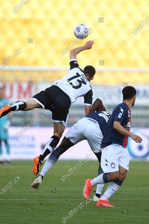 "Mattia Bani (Parma)Simy Simeon Tochukwu Nwankwo (Crotone)Adam Ounas (Crotone)           during the Italian ""Serie A"" match between Parma 3-4 Crotone at  Ennio Tardini Stadium Stadium in Parma, Italy."
