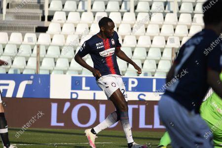 "Simy Simeon Tochukwu Nwankwo (Crotone)   he scored the second goal for his team       during the Italian ""Serie A"" match between Parma 3-4 Crotone at  Ennio Tardini Stadium Stadium in Parma, Italy."