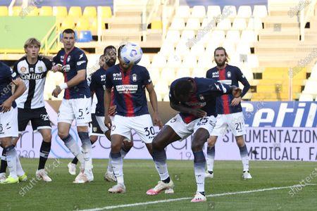 "Simy Simeon Tochukwu Nwankwo (Crotone)           during the Italian ""Serie A"" match between Parma 3-4 Crotone at  Ennio Tardini Stadium Stadium in Parma, Italy."