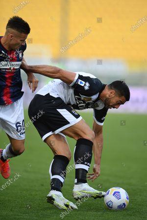 """Graziano Pelle (Parma)Arkadiusz Reca (Crotone)           during the Italian """"Serie A"""" match between Parma 3-4 Crotone at  Ennio Tardini Stadium Stadium in Parma, Italy."""