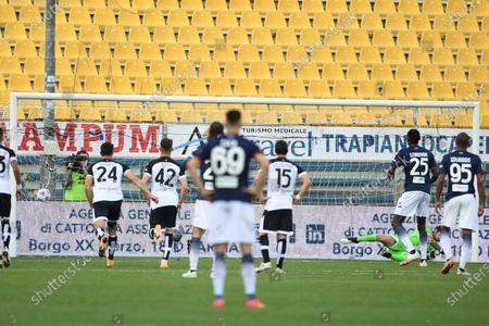 "Simy Simeon Tochukwu Nwankwo (Crotone)   he scored the fourth goal for his team        during the Italian ""Serie A"" match between Parma 3-4 Crotone at  Ennio Tardini Stadium Stadium in Parma, Italy."