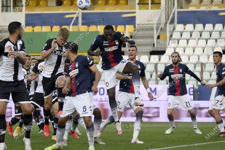 "Simy Simeon Tochukwu Nwankwo (Crotone)Andreas Evald Cornelius (Parma)           during the Italian ""Serie A"" match between Parma 3-4 Crotone at  Ennio Tardini Stadium Stadium in Parma, Italy."