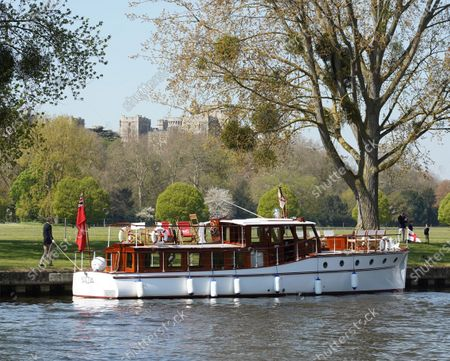 The Association of Dunkirk Little Ships pay tribute to HRH Prince Phillip, Duke Of Edinburgh, at Windsor Castle.