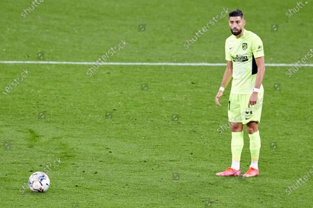 Yannick Carrasco of Atletico de Madrid looks on during the La Liga match between Athletic Club and Club Atletico de Madrid at San Mames stadium on April 25, 2021 in Bilbao, Spain.