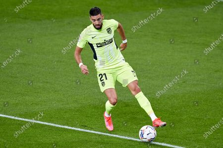 Stock Photo of Yannick Carrasco of Atletico de Madrid in action during the La Liga match between Athletic Club and Club Atletico de Madrid at San Mames stadium on April 25, 2021 in Bilbao, Spain.
