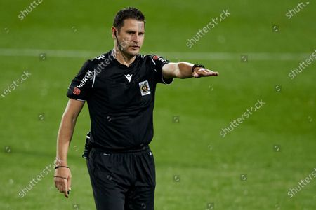 Stock Picture of Referee Jorge Figueroa Vazquez in action during the La Liga match between SD Eibar and Real Sociedad at Ipurua stadium on April 26, 2021 in Eibar, Spain.