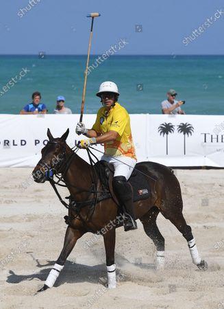 Nacho Figueras of team Seminole Coconut Creek Casino plays during The World Polo League Beach