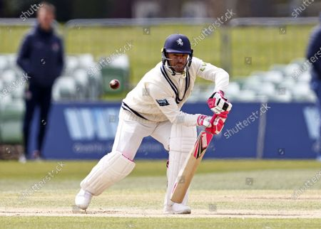 Stock Photo of Heino Kuhn bats for Kent during Kent CCC vs Lancashire CCC, LV Insurance County Championship Group 3 Cricket at The Spitfire Ground on 25th April 2021