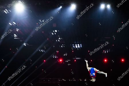 Netherlands' Lieke Wevers performs on the balance beam during the women's apparatus finals of the 2021 European Artistic Gymnastics Championships in Basel, Switzerland, 25 April 2021.