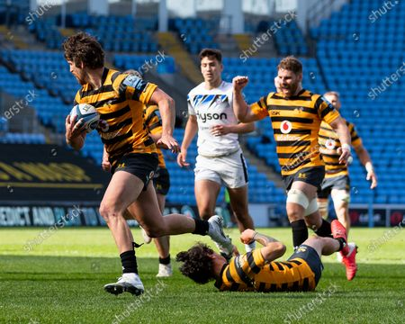 Editorial image of Wasps v Bath Rugby, Gallagher Premiership, Rugby Union, Ricoh Arena, Coventry, UK - 25 Apr 2021