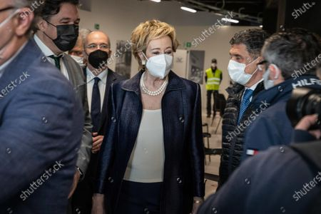 Editorial picture of The opening of the Palazzo delle Scintille vaccination hub, Milan, Italy - 25 Apr 2021