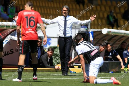 coach Filippo Inzaghi during the Serie A match between Benevento Calcio and Udinese Calcio at Stadio Comunale Ciro Vigorito on April 25, 2021 in Benevento, Italy.