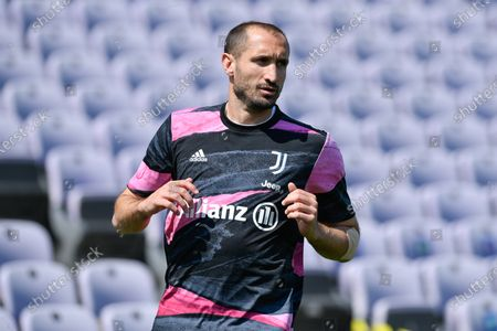 Giorgio Chiellini of Juventus FC looks on during the Serie A match between ACF Fiorentina and FC Juventus at Stadio Artemio Franchi, Florence, Italy on 25 April 2021.