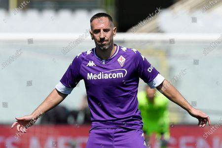 Franck Ribery of ACF Fiorentina looks dejected during the Serie A match between ACF Fiorentina and FC Juventus at Stadio Artemio Franchi, Florence, Italy on 25 April 2021.