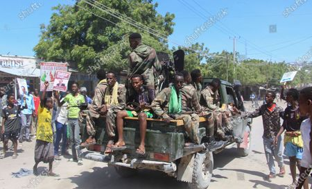 Editorial picture of Military factions engage amidst protest against the president in Mogadishu, Somalia - 25 Apr 2021