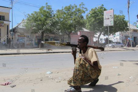 Editorial photo of Military factions engage amidst protest against the president in Mogadishu, Somalia - 25 Apr 2021