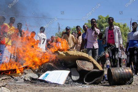 Editorial image of Gunfire, Mogadishu, Somalia - 25 Apr 2021