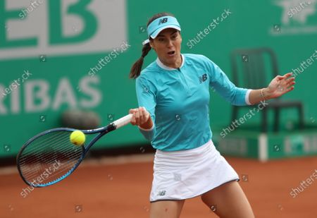 Stock Image of Sorana Cirstea of Romania in action during her final match against Elise Mertens of Belgium at the TEB BNP Paribas Tennis WTA Istanbul Championships in Istanbul, Turkey, 25 April 2021.