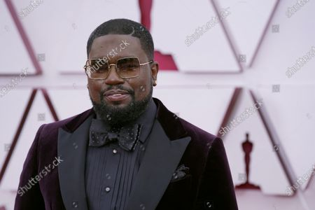 Lil Rel Howery arrives at the Oscars, at Union Station in Los Angeles