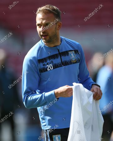 Sheffield Wednesday's Jordan Rhodes  during the Sky Bet Championship match between Middlesbrough and Sheffield Wednesday at the Riverside Stadium, Middlesbrough on Saturday 24th April 2021.