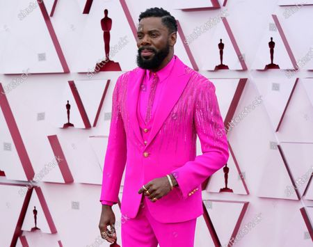 Colman Domingo arrives at the Oscars, at Union Station in Los Angeles