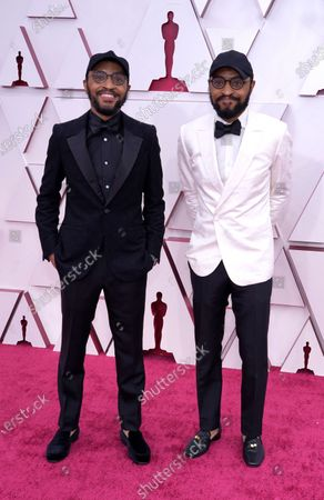 Kenny Lucas and Keith Lucas arrive at the Oscars, at Union Station in Los Angeles
