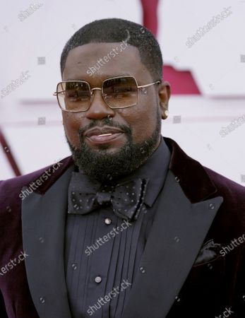 Stock Image of Lil Rel Howery arrives for the 93rd annual Academy Awards ceremony at Union Station in Los Angeles, California, USA, 25 April 2021. The Oscars are presented for outstanding individual or collective efforts in filmmaking in 24 categories. The Oscars happen two months later than originally planned, due to the impact of the coronavirus COVID-19 pandemic on cinema.
