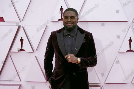 Lil Rel Howery arrives for the 93rd annual Academy Awards ceremony at Union Station in Los Angeles, California, USA, 25 April 2021. The Oscars are presented for outstanding individual or collective efforts in filmmaking in 24 categories. The Oscars happen two months later than originally planned, due to the impact of the coronavirus COVID-19 pandemic on cinema.