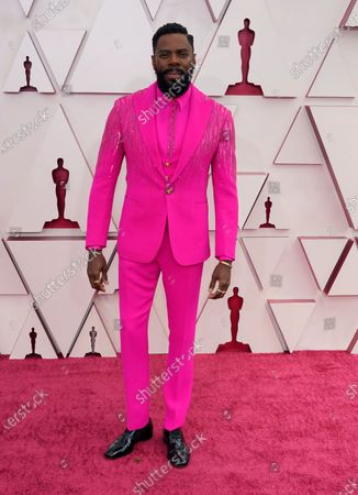 Colman Domingo arrives for the 93rd annual Academy Awards ceremony at Union Station in Los Angeles, California, USA, 25 April 2021. The Oscars are presented for outstanding individual or collective efforts in filmmaking in 24 categories. The Oscars happen two months later than originally planned, due to the impact of the coronavirus COVID-19 pandemic on cinema.
