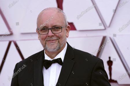 Mark Coulier arrives for the 93rd annual Academy Awards ceremony at Union Station in Los Angeles, California, USA, 25 April 2021. The Oscars are presented for outstanding individual or collective efforts in filmmaking in 24 categories. The Oscars happen two months later than originally planned, due to the impact of the coronavirus COVID-19 pandemic on cinema.