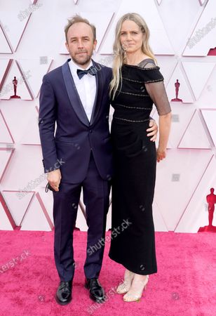 Stock Picture of Derek Cianfrance (L) and Shannon Plumb  arrive for the 93rd annual Academy Awards ceremony at Union Station in Los Angeles, California, USA, 25 April 2021. The Oscars are presented for outstanding individual or collective efforts in filmmaking in 24 categories. The Oscars happen two months later than originally planned, due to the impact of the coronavirus COVID-19 pandemic on cinema.