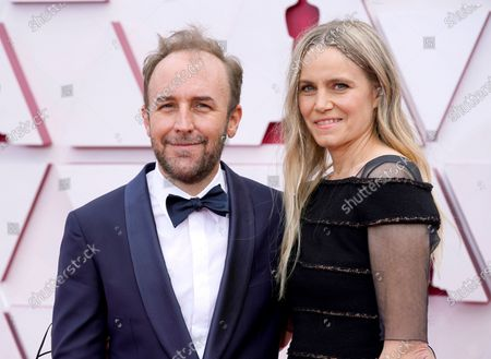 Derek Cianfrance (L) and Shannon Plumb  arrive for the 93rd annual Academy Awards ceremony at Union Station in Los Angeles, California, USA, 25 April 2021. The Oscars are presented for outstanding individual or collective efforts in filmmaking in 24 categories. The Oscars happen two months later than originally planned, due to the impact of the coronavirus COVID-19 pandemic on cinema.