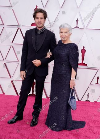 Joshua James Richards (L) and Linda Maya Rudolph arrive for the 93rd annual Academy Awards ceremony at Union Station in Los Angeles, California, USA, 25 April 2021. The Oscars are presented for outstanding individual or collective efforts in filmmaking in 24 categories. The Oscars happen two months later than originally planned, due to the impact of the coronavirus COVID-19 pandemic on cinema.