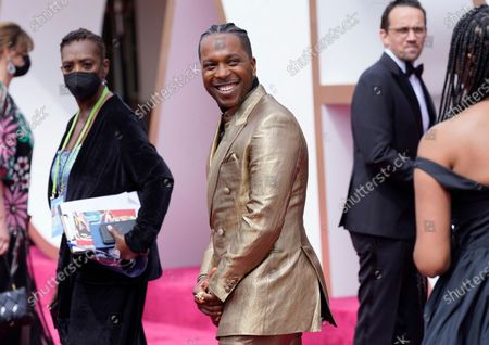 Leslie Odom Jr. (C) arrives for the 93rd annual Academy Awards ceremony at Union Station in Los Angeles, California, USA, 25 April 2021. The Oscars are presented for outstanding individual or collective efforts in filmmaking in 24 categories. The Oscars happen two months later than originally planned, due to the impact of the coronavirus COVID-19 pandemic on cinema.