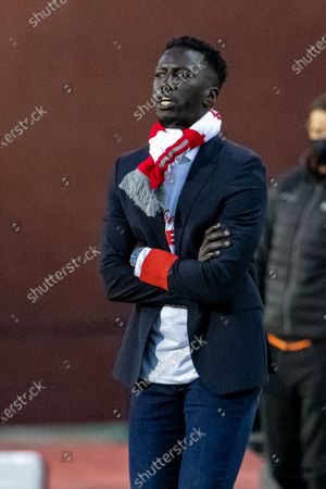 Standard's head coach Mbaye Leye pictured during the 'Croky Cup' Belgian cup final between KRC Genk and Standard de Liege, Sunday 25 April 2021 in Brussels.
