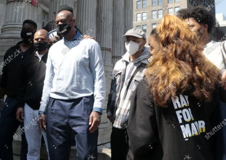 Editorial image of Mayoral Candidate Ray McGuire campaigns in Brooklyn, New York, USA - 25 Apr 2021