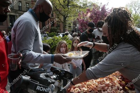 Editorial photo of Mayoral Candidate Ray McGuire campaigns in Brooklyn, New York, USA - 25 Apr 2021