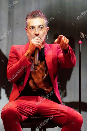The singer Jose Molinero known as J. Molly from the heavy metal band Hamlet, during the performance at the Munos Seca theater