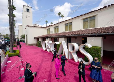 Colman Domingo walks the red carpet at the Oscars