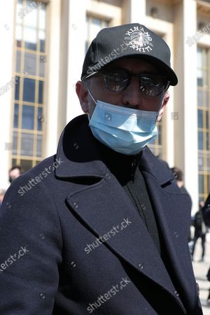 Stock Picture of Gad Elmaleh awaits during the demonstration against the decision of the Court of Cassation in the Sarah Halimi case
