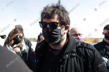Stock Picture of Patrick Bruel awaits during the demonstration against the decision of the Court of Cassation in the Sarah Halimi case