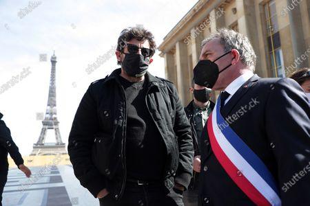 Editorial picture of Sarah Halimi case demonstration, Paris, France - 25 Apr 2021