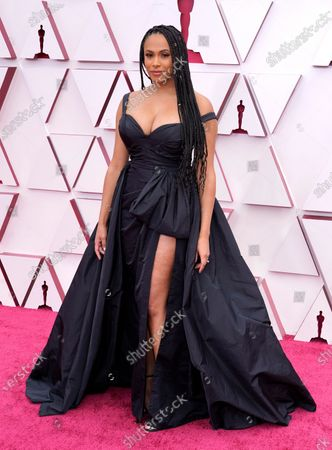 Nicolette Robinson arrives at the Oscars, at Union Station in Los Angeles