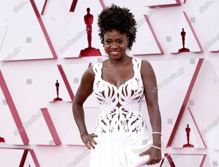 Viola Davis arrives at the Oscars, at Union Station in Los Angeles