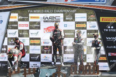 Editorial picture of WRC Croatia Rally winners, Kumrovec, Croatia - 25 Apr 2021