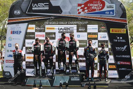 Editorial photo of WRC Croatia Rally winners, Kumrovec, Croatia - 25 Apr 2021