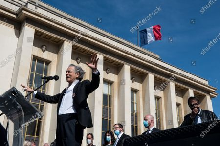Philosopher and intellectual Bernard-Henry Lévy participated in the large demonstration to demand justice for Sarah Halimi, killed with the motive of anti-Semitism in 2017, organised at the Trocadero, in Paris, on April 25, 2021.