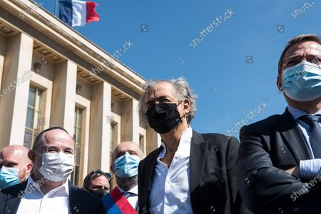 Philosopher and intellectual Bernard-Henry Lévy participated in the large demonstration to demand justice for Sarah Halimi, killed with the motive of anti-Semitism in 2017, organised at the Trocadero, on April 25, 2021, in Paris.