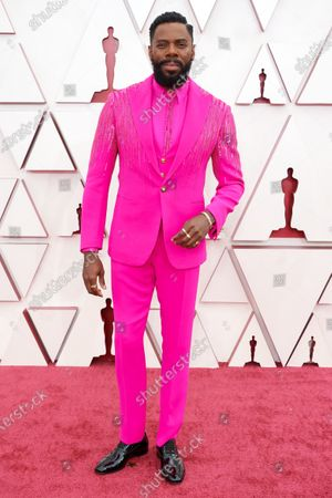 Colman Domingo arrives on the red carpet of The 93rd Oscars® at Union Station in Los Angeles, CA on Sunday, April 25, 2021.